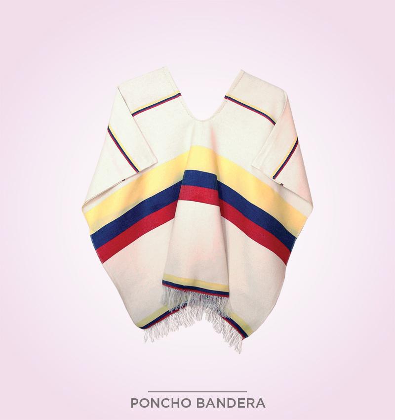 Poncho Bandera – Sombreros y pochos de Colombia 06ec19bdcb6
